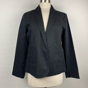 Eileen Fisher Single Button Linen Blend Blazer